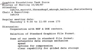 Meeting notes from the first HDF Group - history file compression graphics foundation task force